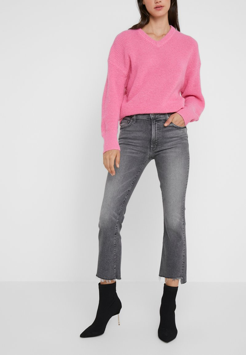 Mother - INSIDER CROP STEP FRAY  - Jeans Skinny - grey