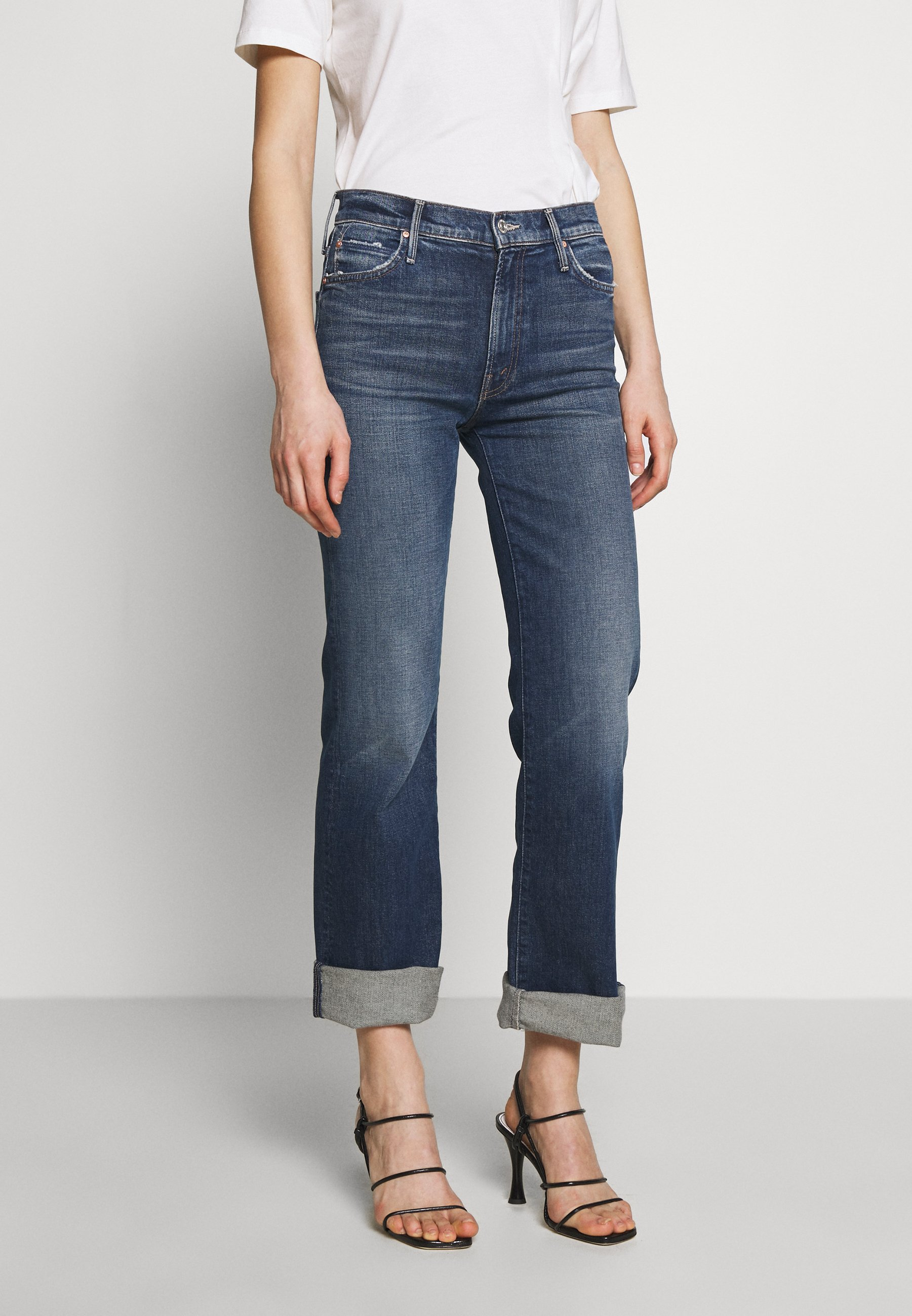 Mother THE KICK IT - Jeansy Bootcut - blue denim