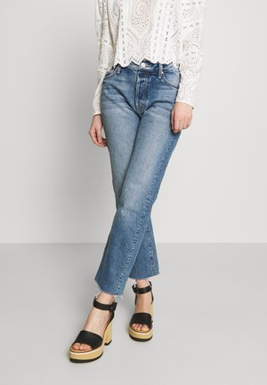 SCRAPPER CUFF ANKLE FRAY  - Džíny Straight Fit - blue denim