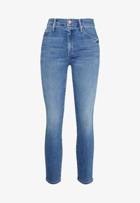 Mother - THE LOOKER CROP  - Skinny džíny - blue denim - 3