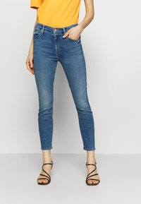 Mother - THE LOOKER CROP  - Skinny džíny - blue denim - 0