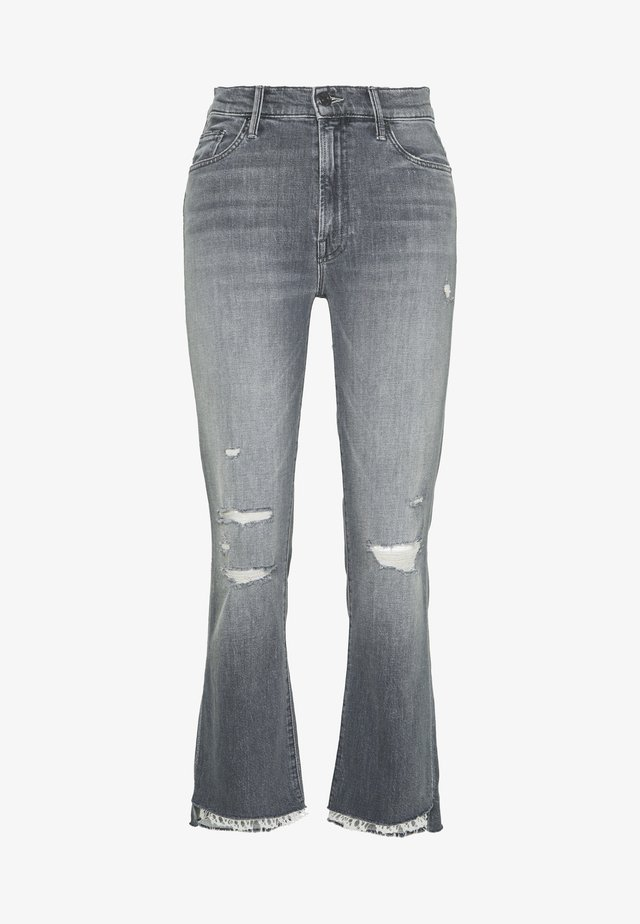 THE INSIDER CROP STEP FRAY  - Flared Jeans - grey denim
