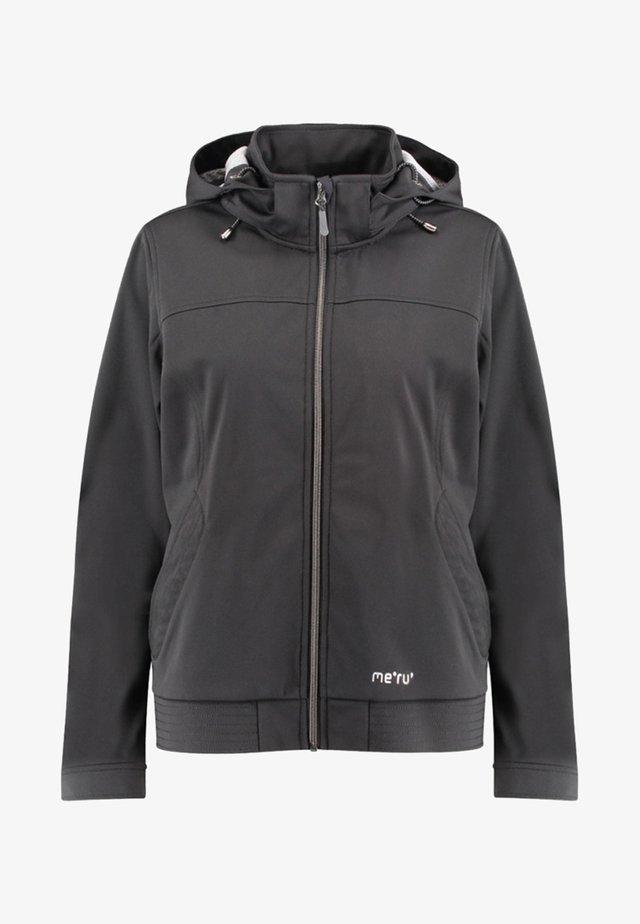 FALUN - Soft shell jacket - black