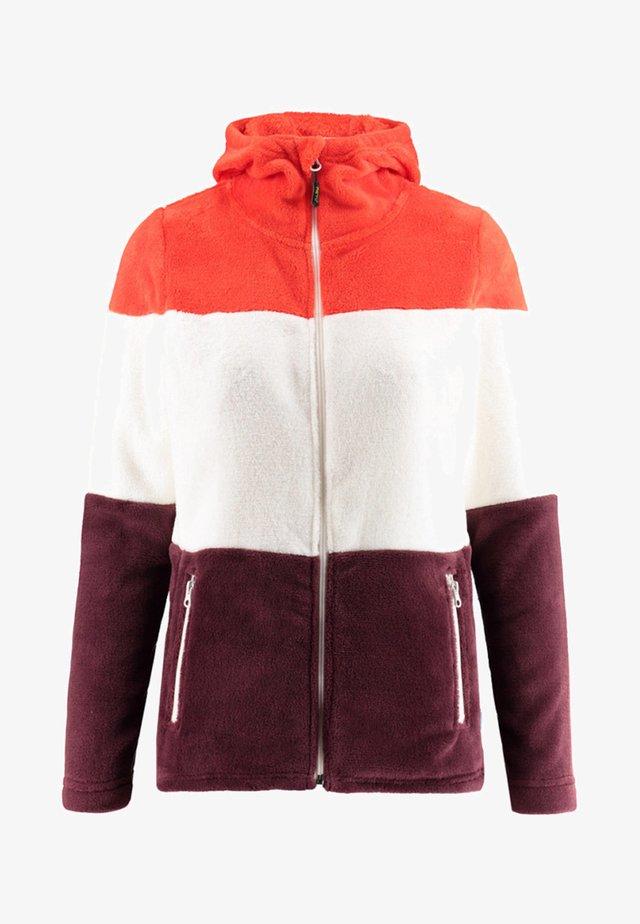 Fleece jacket - aubergine