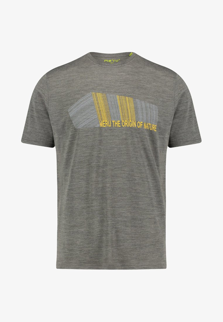 "Meru - MERU HERREN T-SHIRT ""TUMBA"" KURZARM - Print T-shirt - dark grey"