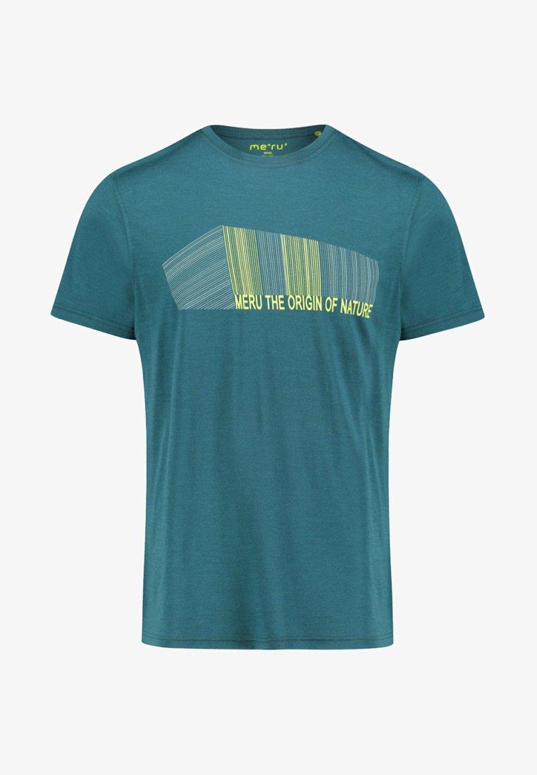 """Meru - MERU HERREN T-SHIRT """"TUMBA"""" KURZARM - Print T-shirt - dark green"""