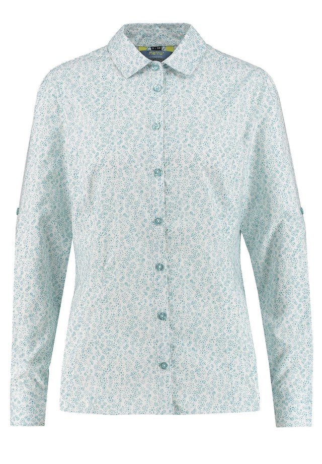 "MERU DAMEN WANDERBLUSE ""PUEBLA"" - Button-down blouse - blau"
