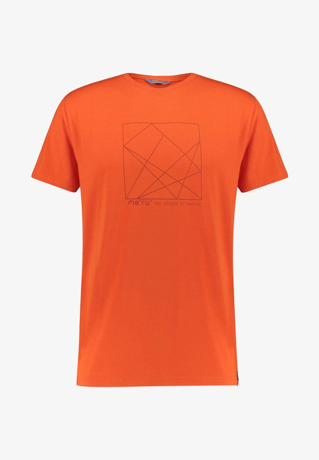 SKIROS - Print T-shirt - orange (506)