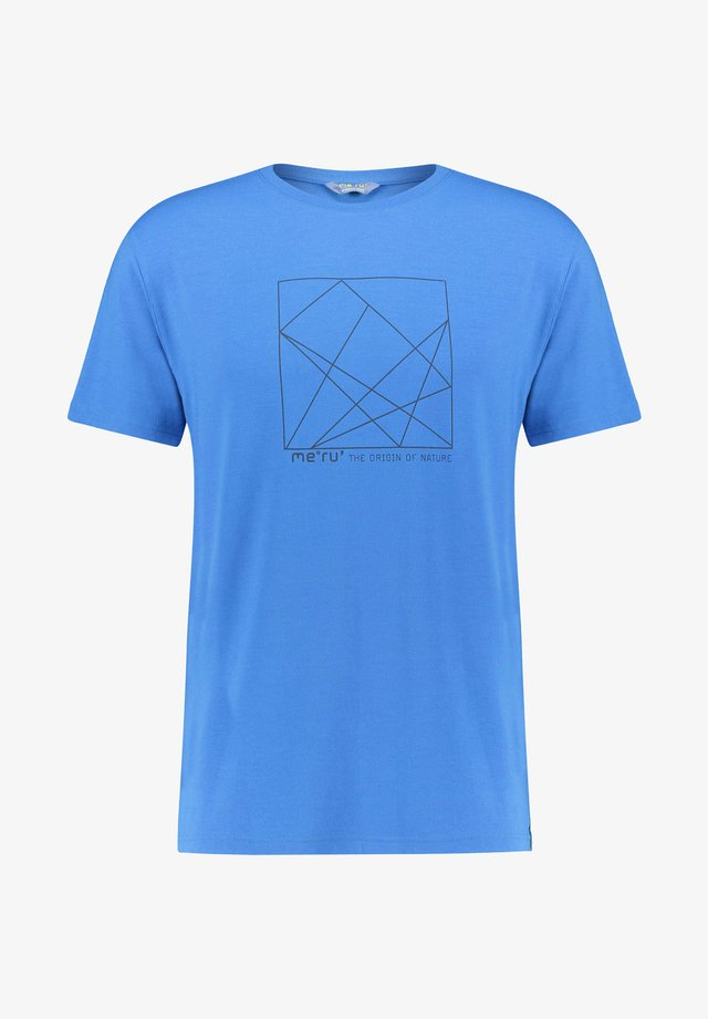 SKIROS - Print T-shirt - blau (296)