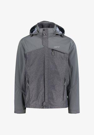 DOUBLE JACKET - Soft shell jacket - anthracite