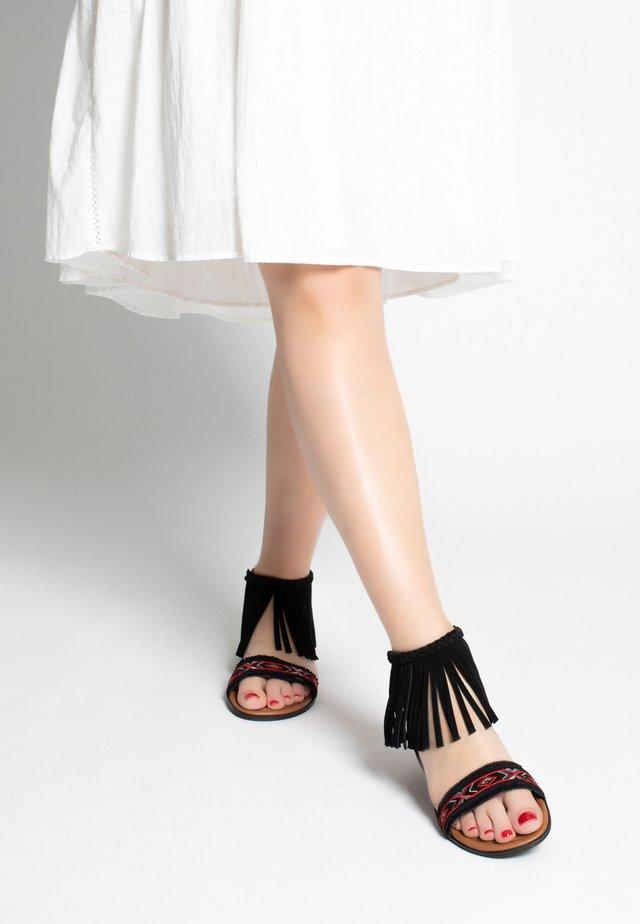 MOROCCO - Ankle cuff sandals - black