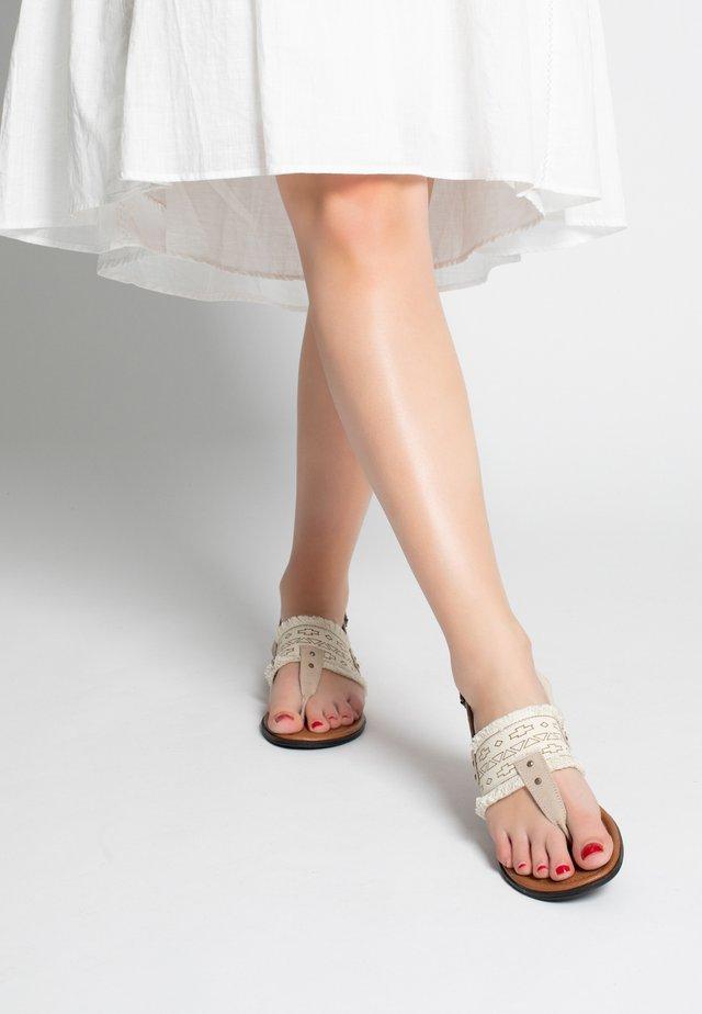 PANAMA THONG - T-bar sandals - beige
