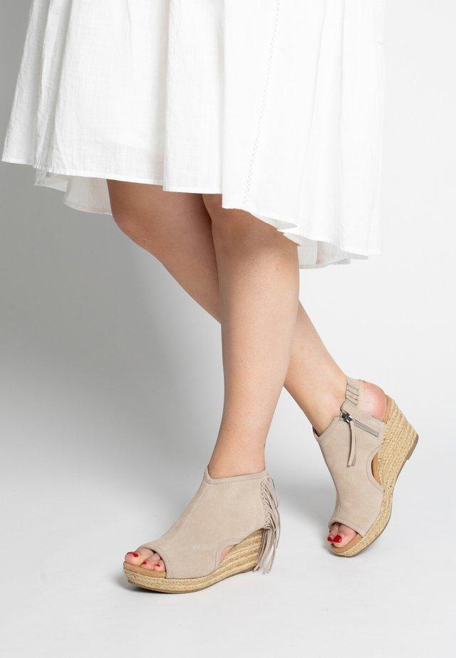 BLAIRE - High heeled sandals - beige