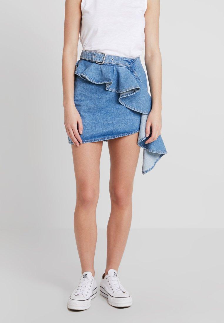Miss Sixty - CEDRIC SKIRT - Wrap skirt - blue denim