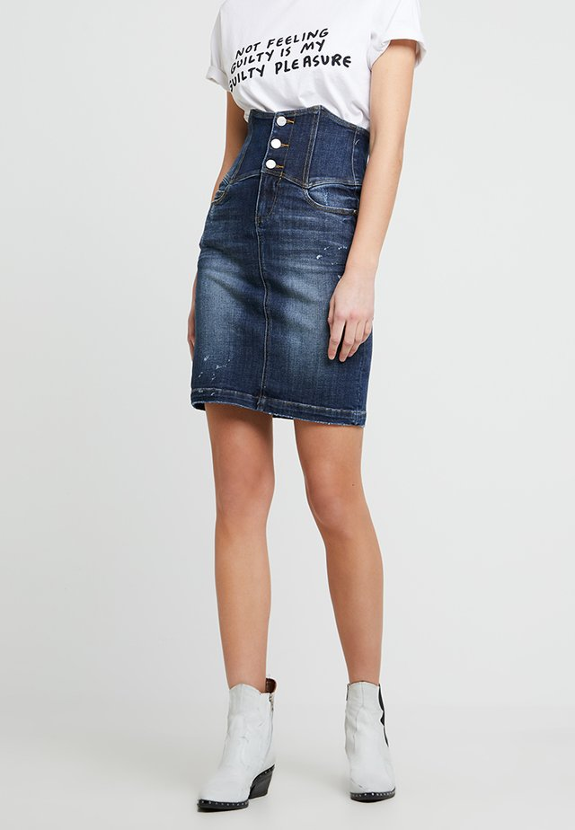 MATHEW SKIRT - Denim skirt - blue denim