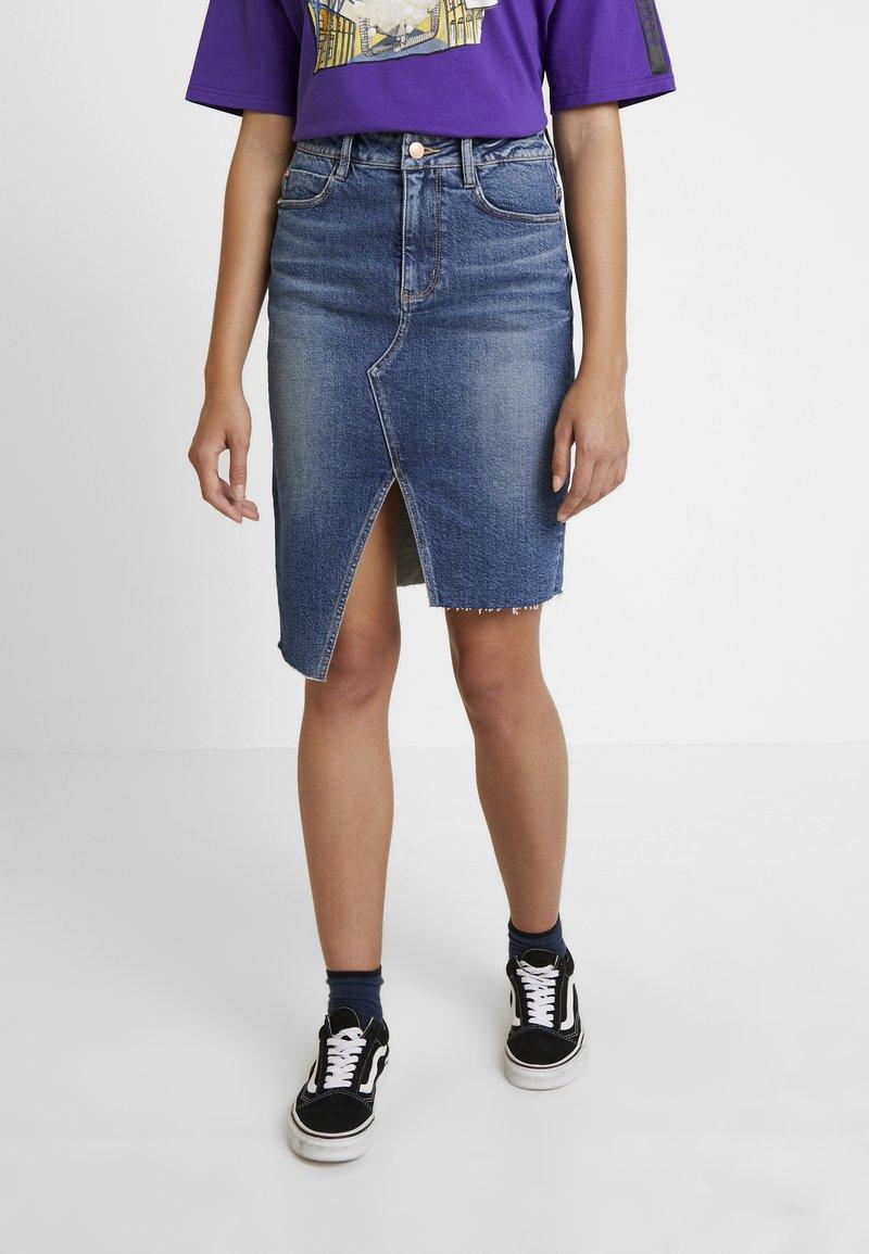 Miss Sixty - SKIRT - Pencil skirt - blue denim