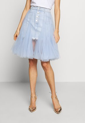 SKIRT - A-linjainen hame - light blue