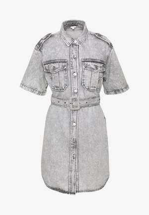 DRESS - Denim dress - grey