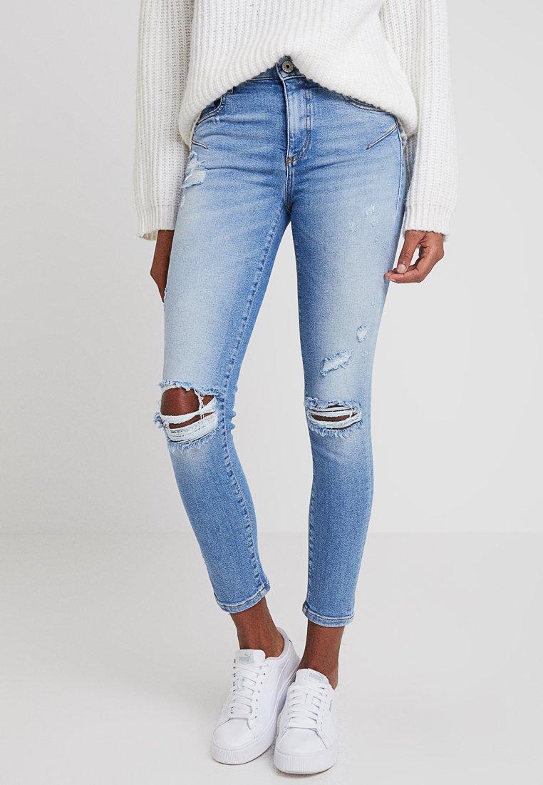 Miss Sixty - BETTIE CROPPED - Jeans Skinny Fit - blue denim