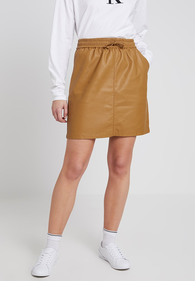 Minimum - BALOUA - Mini skirt - golden brown