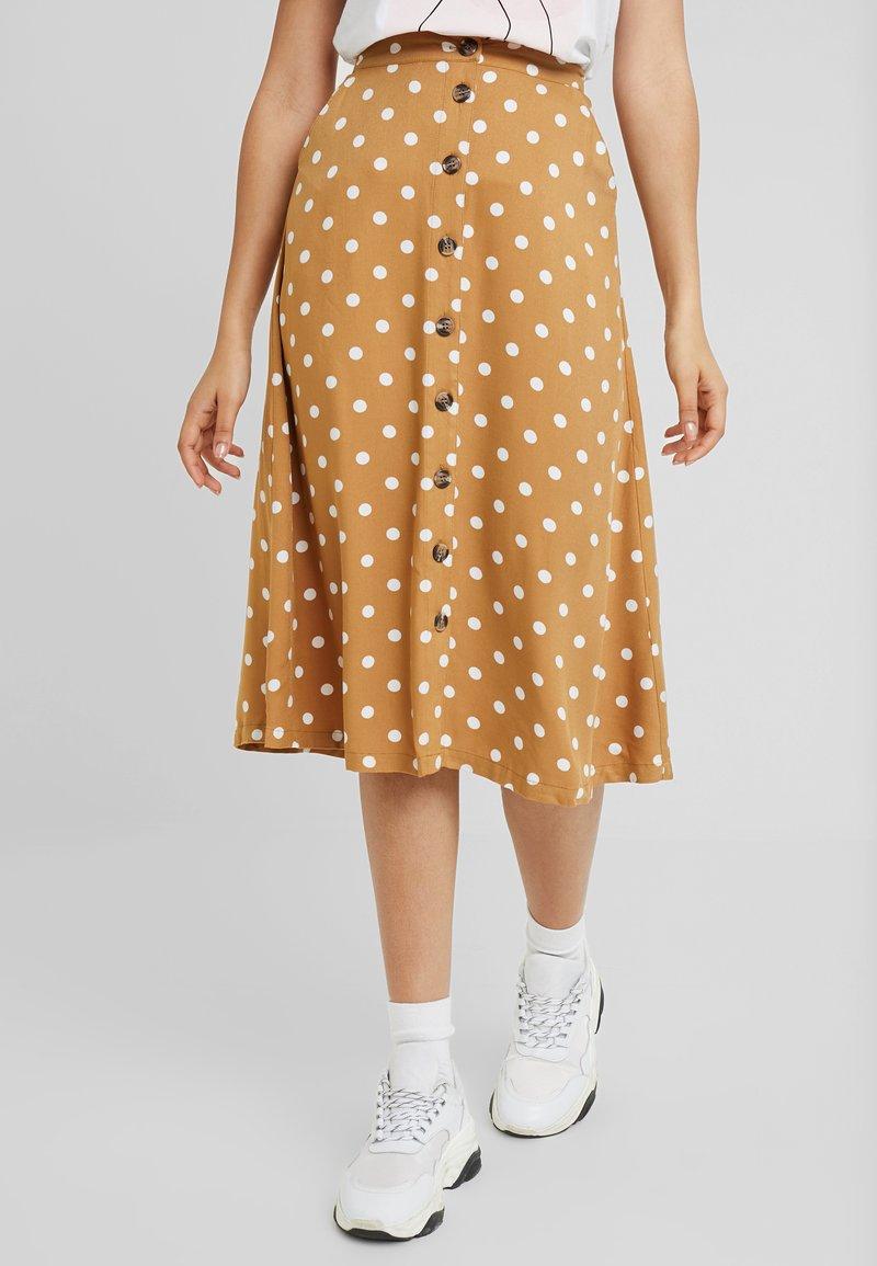 Minimum - SKIRT - A-line skirt - tobacco brown