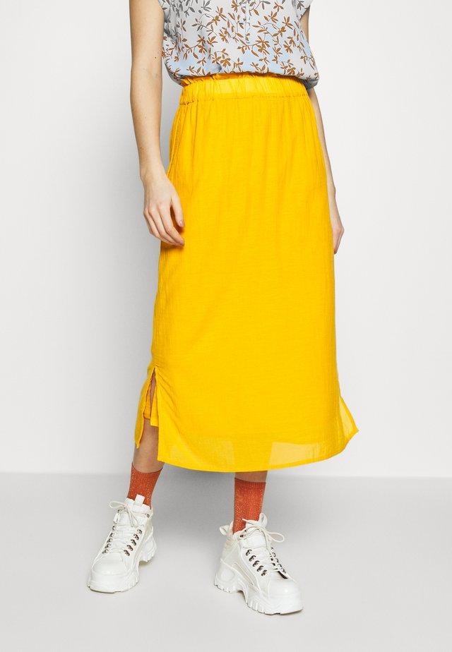 EVORINA - A-lijn rok - sunflower