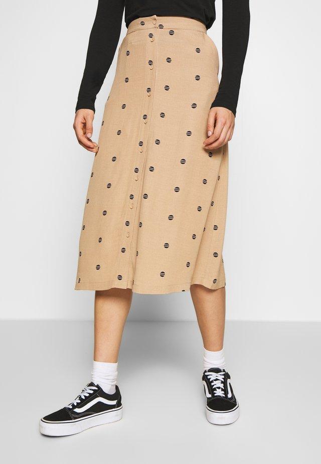 SODOT - Áčková sukně - tannin
