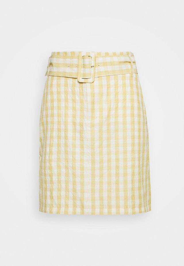 NOVARA SKIRT - Spódnica trapezowa - yellow