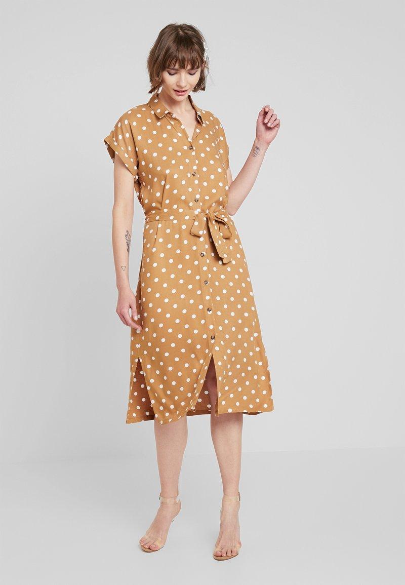 Minimum - Shirt dress - tobacco brown