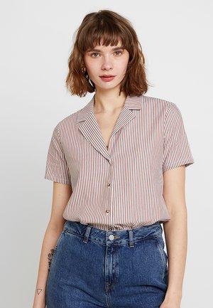 CATHIA - Button-down blouse - tobacco brown