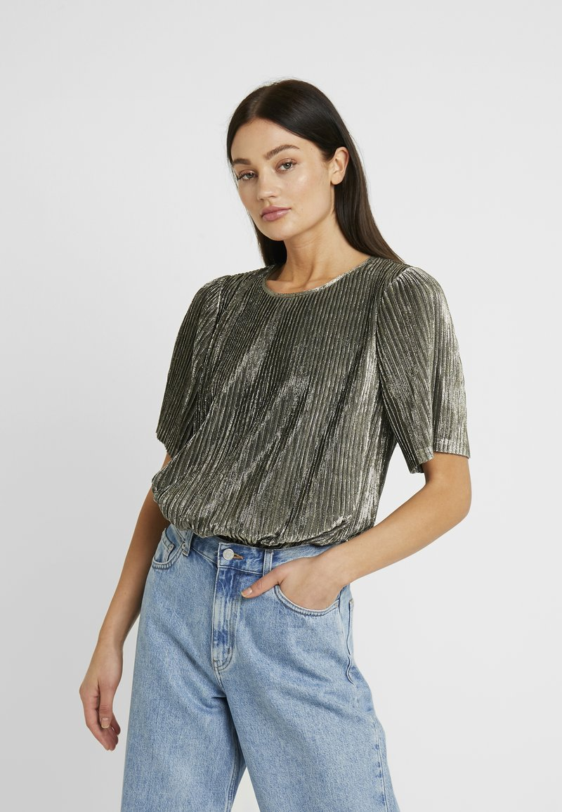 Minimum - BRAY BLOUSE - T-Shirt print - gold