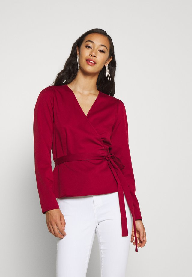 ELASTICO LONG SLEEVED BLOUSE - Pusero - marsala