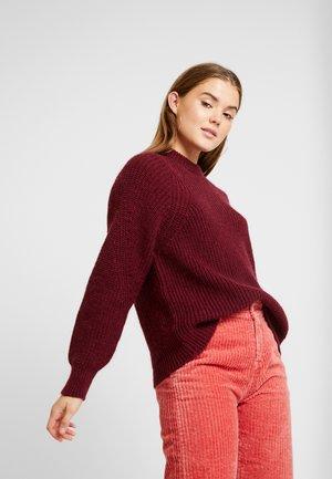 ALLIREA - Sweter - maroon