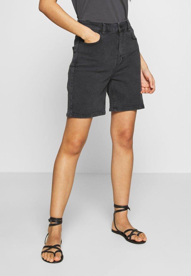 SORINA - Jeans Shorts - black