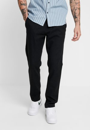 Trousers - dark grey melange