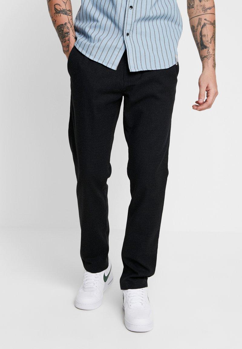 Minimum - Trousers - dark grey melange