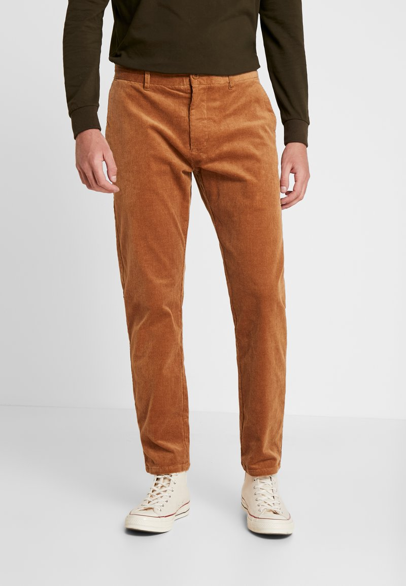 Minimum - MODEL TWO - Trousers - tobacco brown