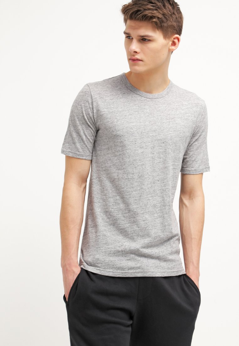 Minimum - DELTA - T-Shirt basic - light grey melange