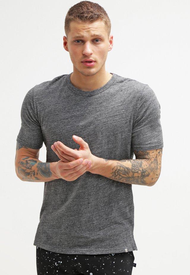 DELTA - Basic T-shirt - dark grey mel