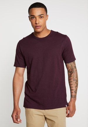 DELTA - T-shirt basic - bordeaux melange
