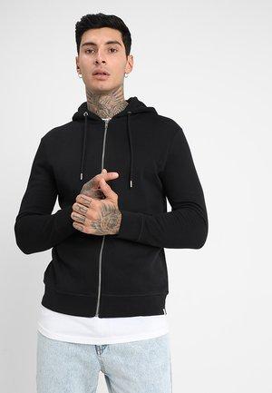 VILLE - veste en sweat zippée - black