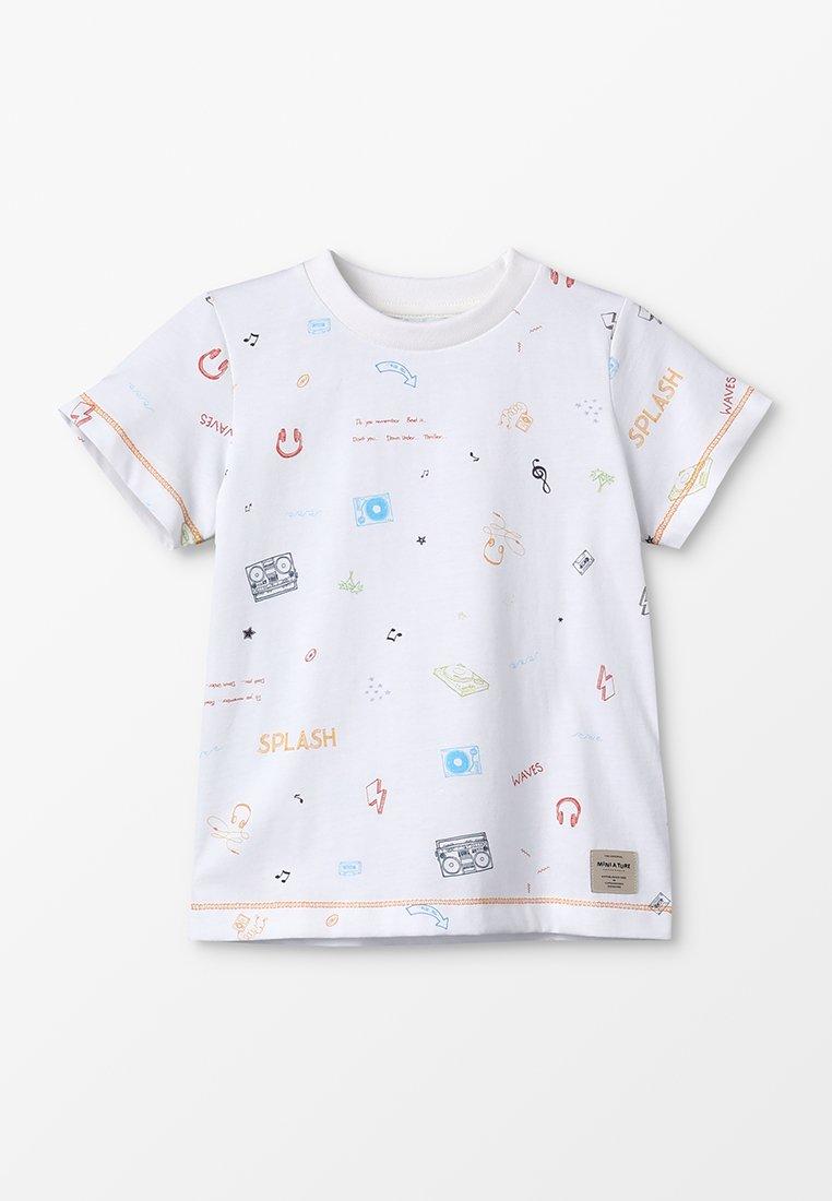 MINI A TURE - DENNI - Print T-shirt - white
