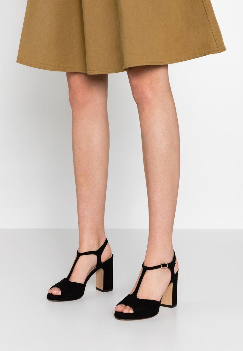 Minelli - Sandály na vysokém podpatku - black