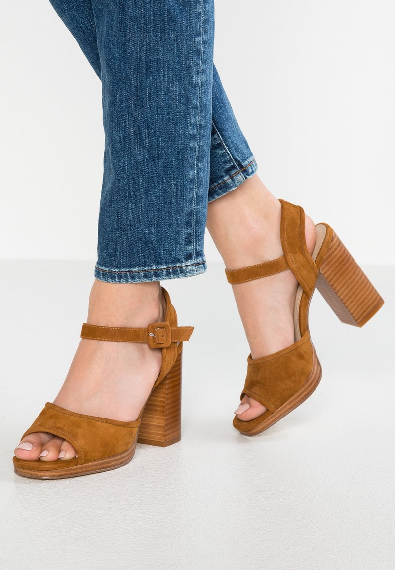 Minelli - High heeled sandals - cognac
