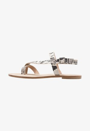 T-bar sandals - naturel