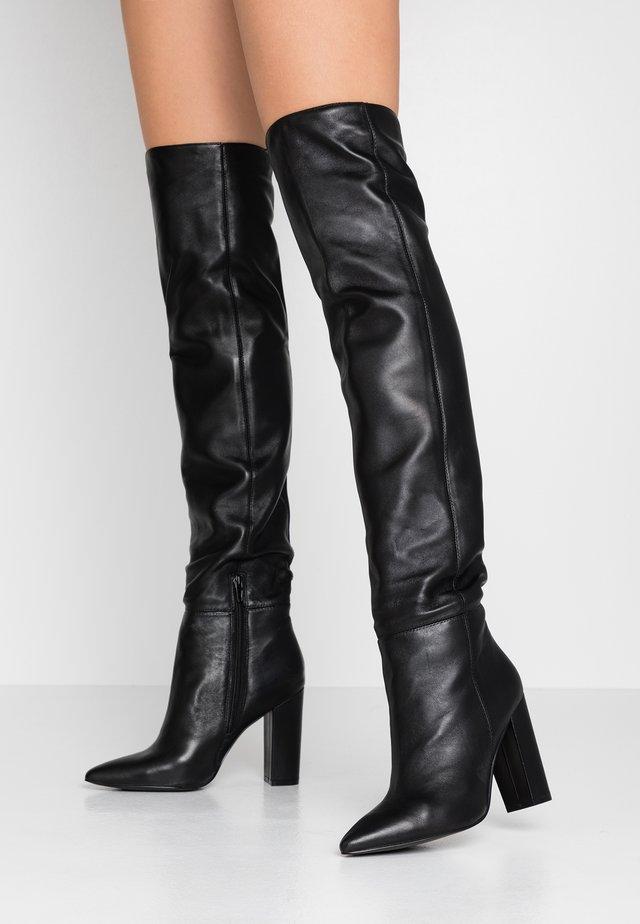 High Heel Stiefel - noir