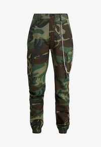 Missguided Tall - MISSGUIDED CAMO TROUSER WITH CHAIN - Kalhoty - khaki - 3