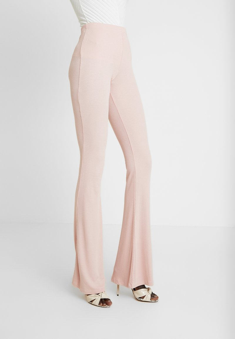 Missguided Tall - FLARE - Kalhoty - rose