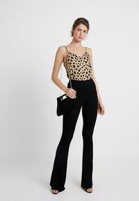 Missguided Tall - FLARE - Kalhoty - black - 1