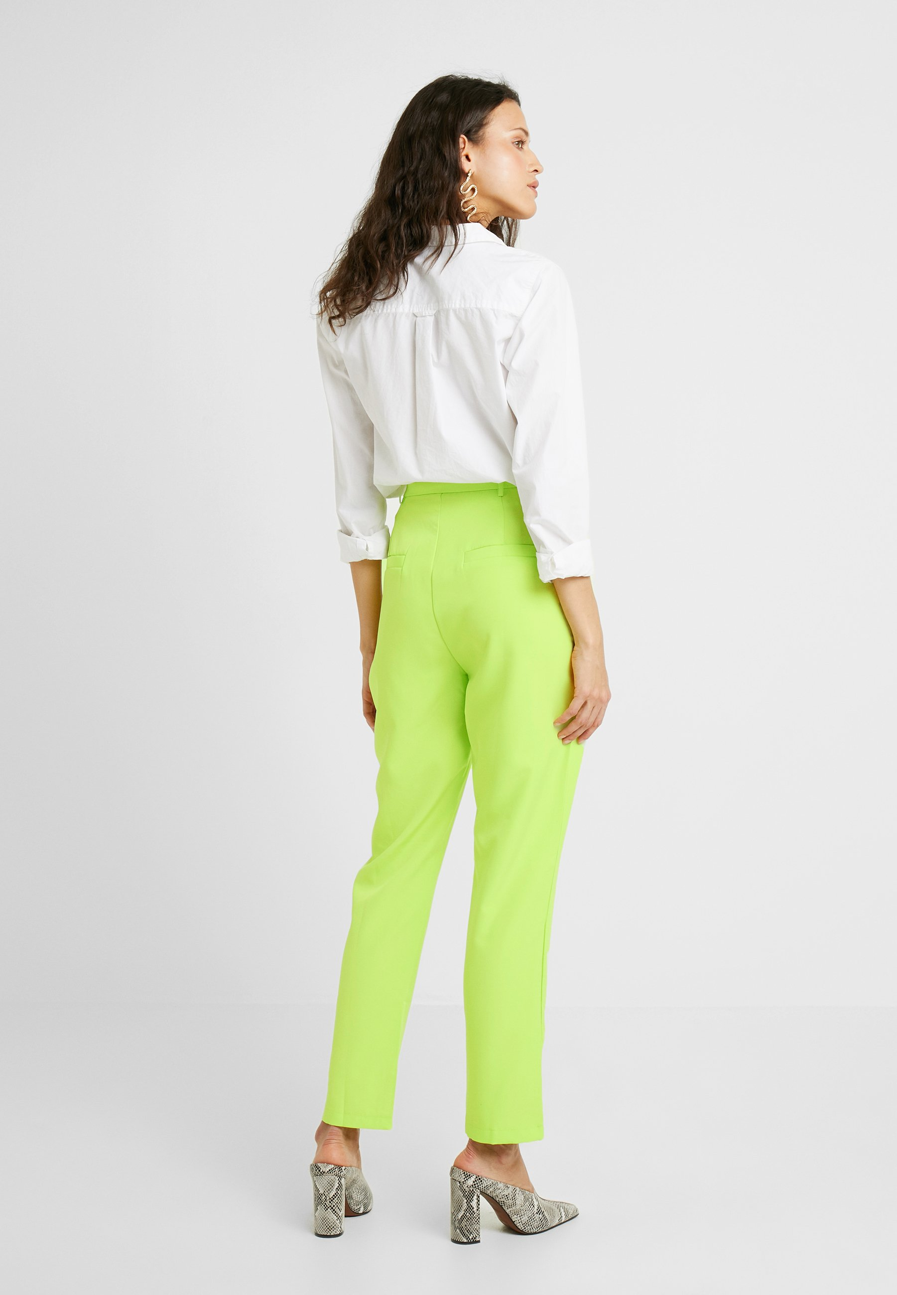 Tall Classique High TrousersPantalon Green Waisted Neon Leg Missguided cTlKJ1F